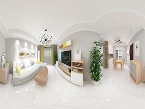 文化新村125平打造简单婚房
